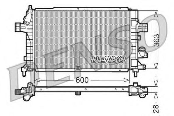 DRM20102 Радиатор системы охлаждения OPEL: ASTRA H 1.3 CDTI/1.7 CDTI/1.9 CDTI 04 - , ASTRA H GTC 1.3 CDTI/1.7 CDTi/1.9 CDTI 05 -
