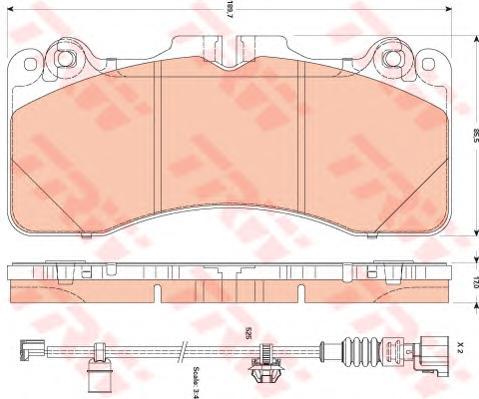 GDB3506 Колодки тормозные LEXSUS LS 460 06- передние