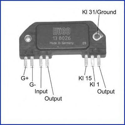 138026 Коммутатор системы зажигания OPEL: ASTRA F VAN (55) 1.6 I 91-99, KADETT E COMBO (38, 48) 1.6 I 86-94, KADETT E ФУРГОН (37