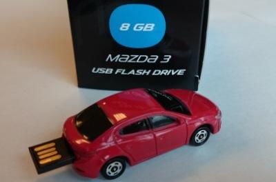 830077726 Сувенир MAZDA флэшка USB Mazda 3 (седан) 8 GB