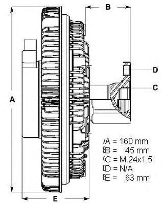 LK008 Вискомуфта BMW 2,5TDS 91- 3/5/7 E36/E39/E38