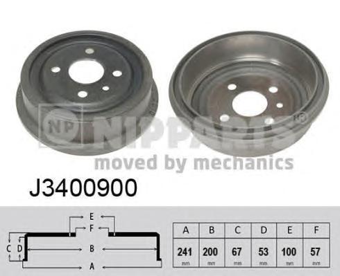 J3400900 Барабан тормозной DAEWOO NEXIA/LANOS/ESPERO/OPEL ASTRA F/KADET E