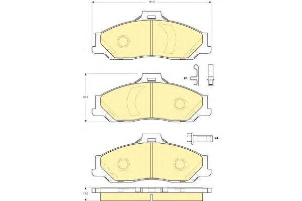 6133539 Колодки тормозные FORD RANGER/MAZDA B/BT-50 98- передние