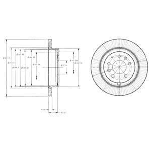 BG4336 Диск тормозной MAZDA CX-7 2.3 07- задний