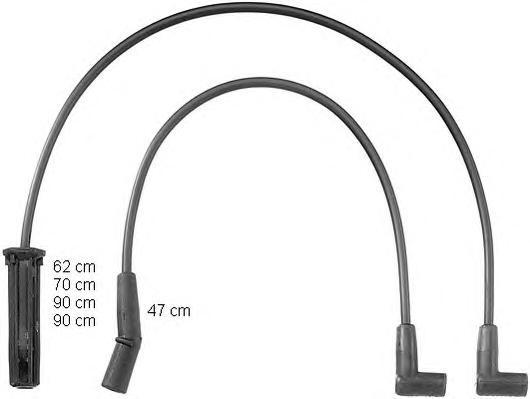 zef835 Комплект проводов зажигания