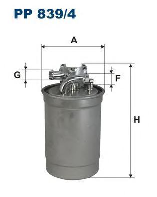 PP8394 Фильтр топливный AUDI A4/A6/A8 2.5TDI 7/97-