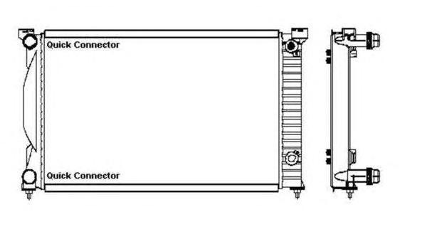 50543 Радиатор VAG A4 1.8-2.0 +АКПП 01-