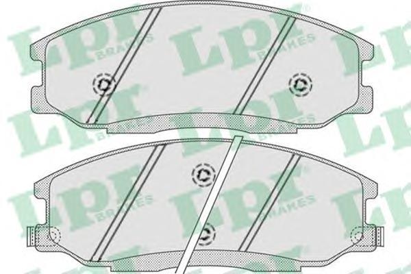 05P859 Колодки тормозные HYUNDAI H-1/SANTA FE/TRAJET/SSANGYONG REXTON 01- передние
