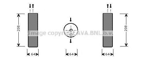 MSD053 Осушитель кондиционера MB: S-CLASS (W220) S 280 (220.063, 220.163)/S 320 (220.065, 220.165)/S 320 CDI (220.025, 220.125)/