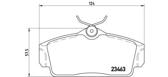 P56036 Колодки тормозные NISSAN ALMERA 00/PRIMERA 9602 передние
