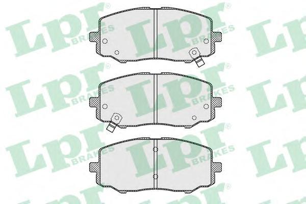 05P1633 Колодки тормозные HYUNDAI i20 1.2 08- передние
