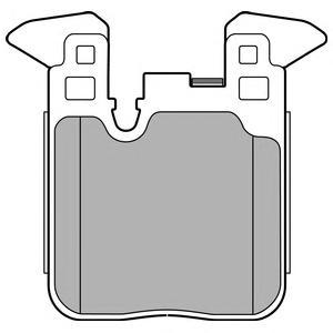 LP2660 Колодки тормозные BMW F20/21/30/35/80/31 (со спорт.пакетом) задние