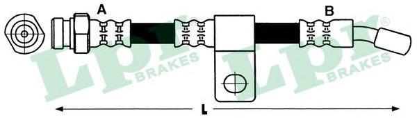 6T48088 Шланг тормозной HYUNDAI TRAJET 00- передний правый