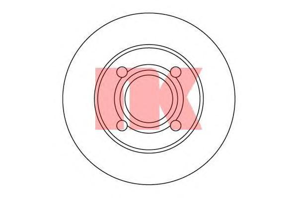 204748 Диск тормозной задний / AUDI 80,90 1.8 - 2.8 Quattro ( 10-245 ) 84 - 95