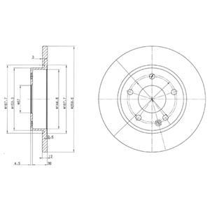 BG3394 К-т торм. дисков Re MВ A W168 98-