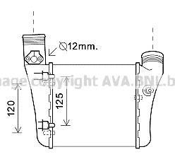 AIA4333 Интеркулер AUDI A4/S4 2.0T/2.0TD 00-