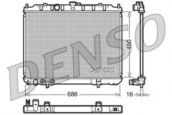 DRM46005 Радиатор охл. ДВС NI X-Trail 2.0 i Aut.06/01-