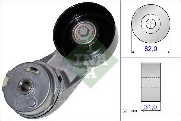 534037210 Ролик приводного ремня OPEL INSIGNIA/ANTARA 2.0T - 2.4 08