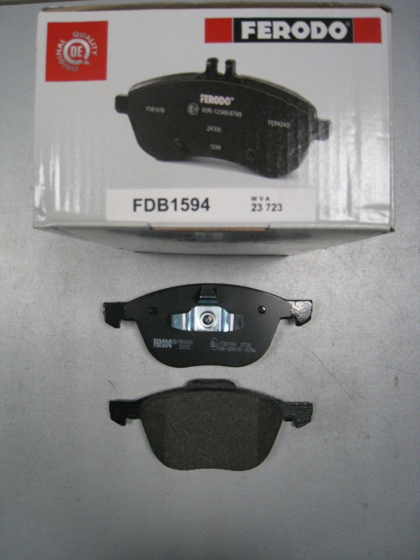 FDB1594 Колодки тормозные FORD FOCUS II 04-/III 10-/MAZDA 3 03-/VOLVO S40 04- передние