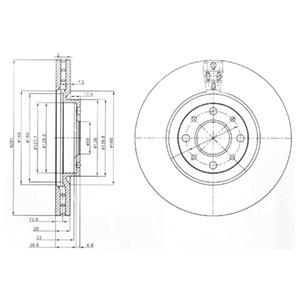 BG3699 Диск тормозной Fr FI Stilo 01-