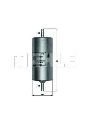 KL194 Фильтр топливный FIAT PANDA 1.0 -04