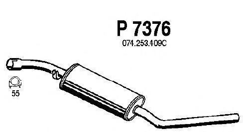 p7376 Средний глушитель выхлопных газов