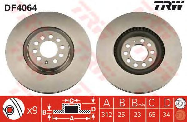 df4064 Тормозной диск