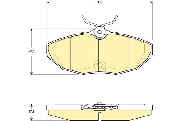 6115111 Колодки тормозные JAGUAR S-TYPE 02-07/XJ6/XJ8 03-09 задние
