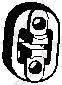255132 Подвеска глушителя VAG