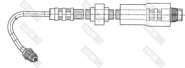 9002543 Шланг тормозной RENAULT KANGOO 01- задний с АБС лев.