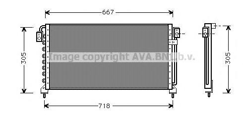 SU5028 Конденсер SUBARU LEGACY 2.0-2.5 94-99