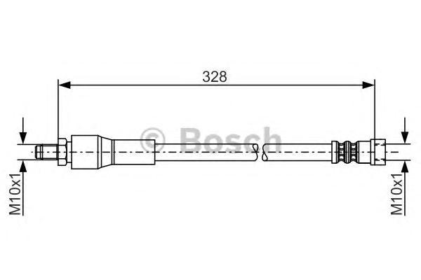 1987481001 Шланг тормозной MB W639 328мм зад.