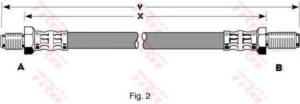 PHC137 Шланг тормозной передн 410мм FORD: ESCORT/ORION 5/83-7/90