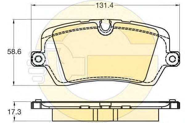 6120291 Колодки тормозные LAND ROVER RANGE ROVER IV 12-/SPORT 13- задние