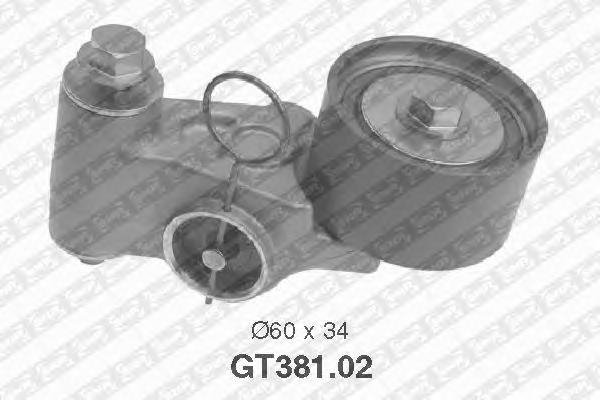 GT38102 Натяжитель ремня ГРМ SUBARU LEGACY/FORESTER 1.6-2.0 96-
