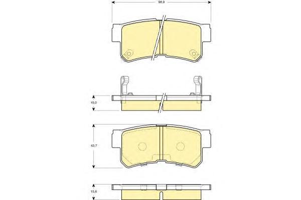 6132589 Колодки тормозные HYUNDAI TRAJET 2.0-2.7 00- задние
