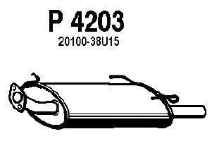 p4203 Глушитель выхлопных газов конечный