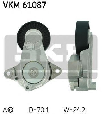 vkm61087 Натяжной ролик, поликлиновой  ремень