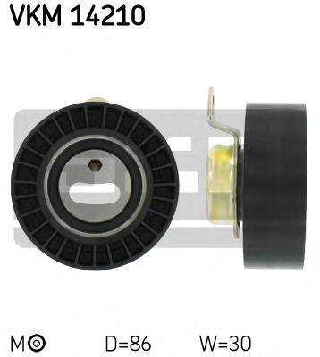 VKM14210 Ролик натяжной ремня ГРМ Ford Escort 1.6 16V / 1.8 16V 09/92-07/01, Fiesta 1.6 16V 01/94-12/95, 1.8 16V 02/92-12/95, Mo