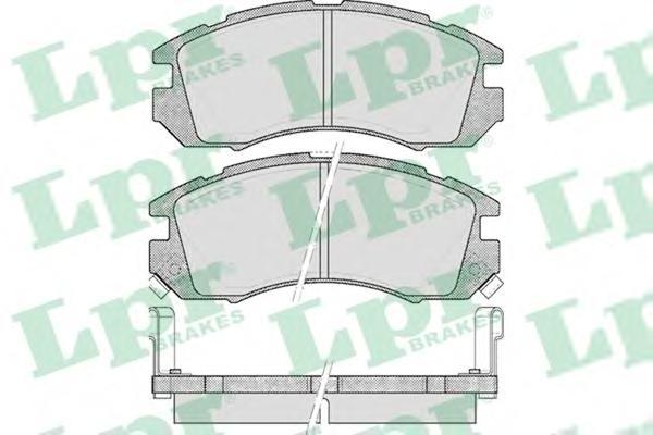 05P546 Колодки тормозные SUBARU IMPREZA/LEGACY 1.6-2.2 89-00 передние