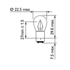 12401CP Лампа Stop P22 12V 15W BA15s