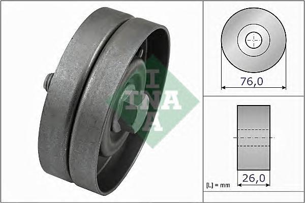 532032630 Ролик ремня приводного VW GOLF 4/BORA 1.4/1.6/1.9D 00-05