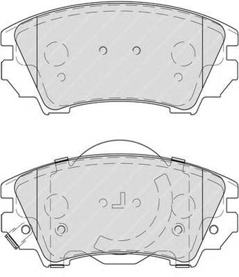 "FDB4208 Колодки тормозные OPEL INSIGNIA 08-/ZAFIRA 11-/SAAB 9-5 10- R17"" передние"