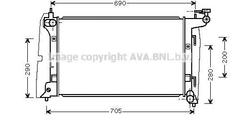 TOA2290 Радиатор TOYOTA COROLLA 1.4/1.6 02-