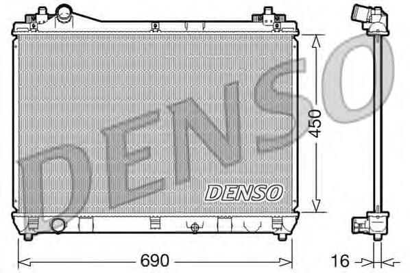 DRM47016 Радиатор SUZUKI GRAND VITARA 2.0/2.4 M/T 05-