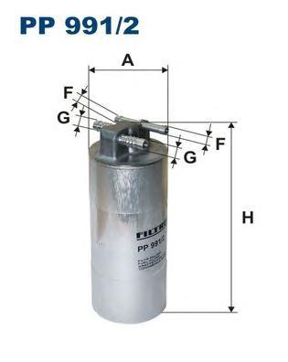 PP9912 Фильтр топливный VAG A6 2.7/3.0D 04-11