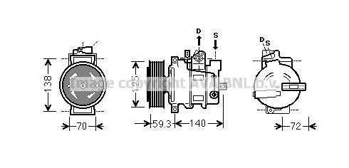AIAK313 Компрессор кондиционера AUDI: A6 (4F2, C6) 2.4/2.4 QUATTRO/2.8 FSI/3.2 FSI/3.2 FSI QUATTRO 04-11, A6 AVANT (4F5, C6) 2.4