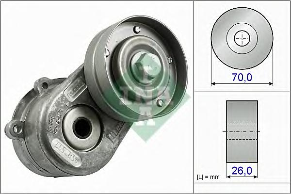 534044810 Натяжитель ремня приводного CHRYSLER/JEEP/DODGE 2.5D/2.8D 00-