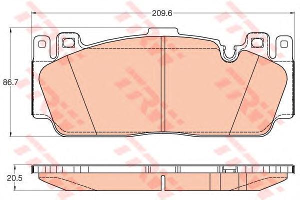 GDB2020 Колодки тормозные BMW M5(F10) 11-/M6(F06/F13) 12- передние