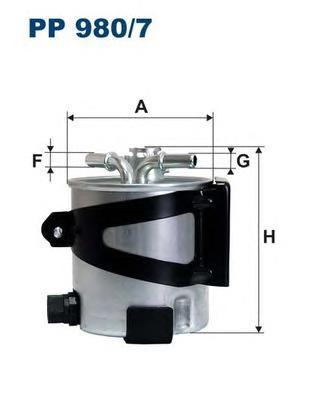 PP9807 Фильтр топливный RENAULT MEGANE/SCENIC 1.5D/2.0D 05- (без датчика)